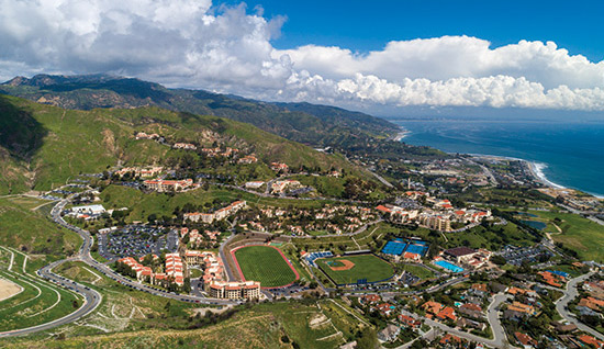 Vista shot of Pepperdine campus