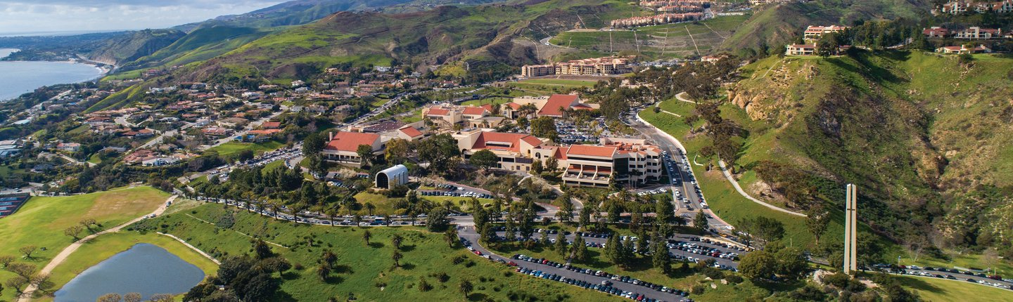 Pepperdine University campus in Malibu, CA