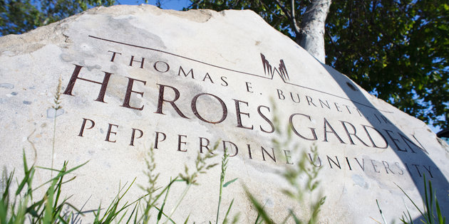 Heroes Garden Rock - Pepperdine University