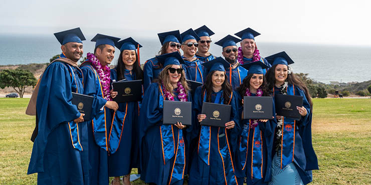 Graduate students receive degrees at graduation - Pepperdine University