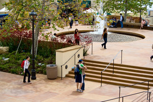 Seaver College students walk through the main campus - Pepperdine University