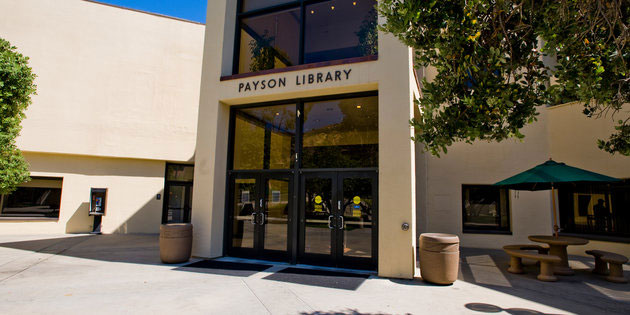 Payson Library at the Malibu campus - Pepperdine University