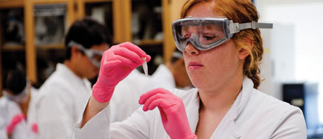 A student conducts scientific research - Pepperdine University