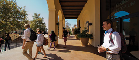 Students walk through campus - Pepperdine University