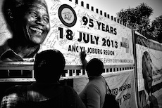 A Nelson Mandela memorial is featured in public - Pepperdine University