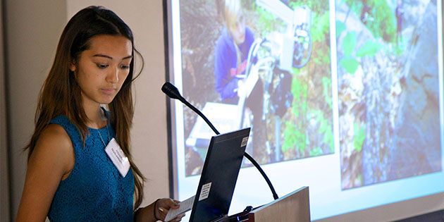 Nicole Nakamatsu presents research at National Park Service Symposium - Pepperdine University
