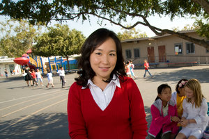 A Graduate School of Education and Psychology (GSEP) student at an elementary school - Pepperdine University