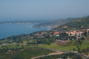 A panoramic view of the main Malibu campus - Pepperdine University