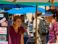 Pepperdine student clubs with information booths - Pepperdine University