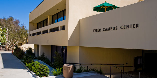 Tyler Campus Center (TCC) building entrance - Pepperdine University