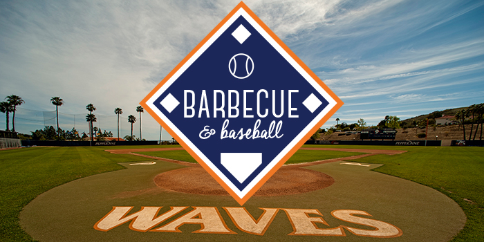 Southern California Waves Barbecue and Baseball event logo - Pepperdine University