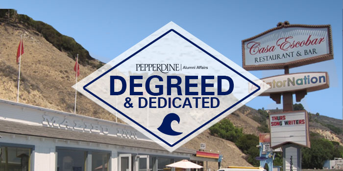 Degreed and Dedicated 2016 Staff/Faculty-Alumni Reception event logo - Pepperdine University