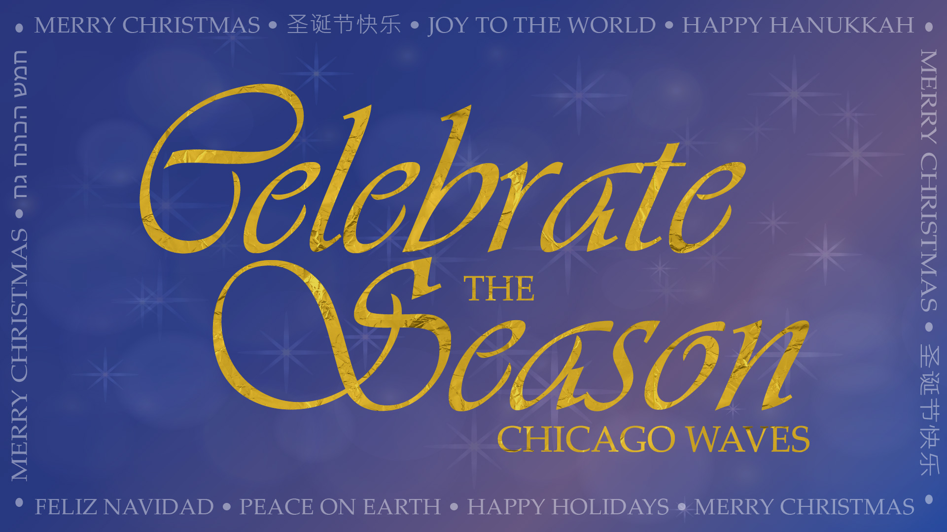 Celebrate the season with Chicago Waves logo