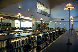 Renovated library stacks