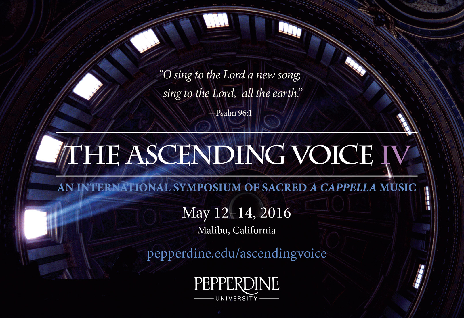 The Ascending Voice IV event logo - Pepperdine University