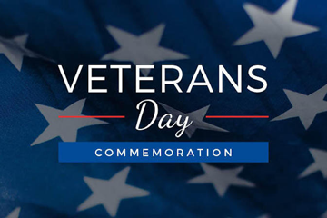 Veterans Day promo graphic
