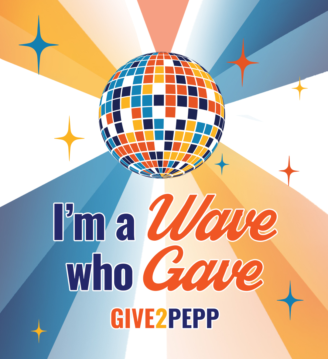Give2Pepp Facebook - I'm a Wave who Gave