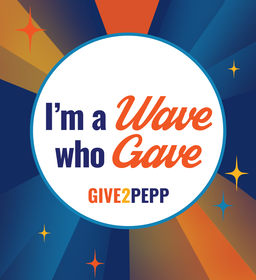 Give2Pepp Facebook - I'm a Wave who Gave (dark)