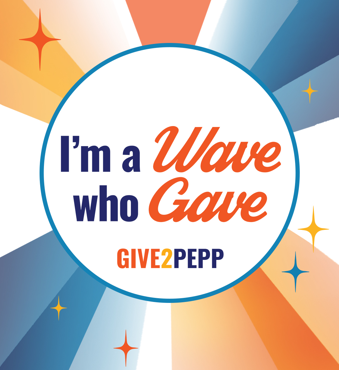 Give2Pepp Instagram - I'm a Wave Who Gave post
