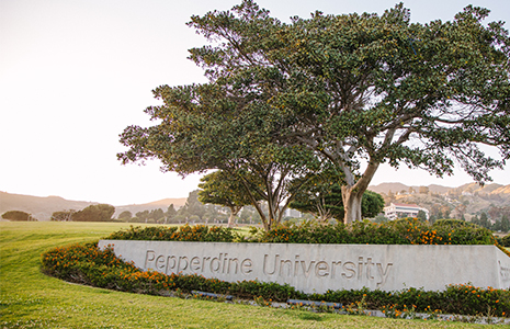 Malibu campus entrance - Pepperdine University