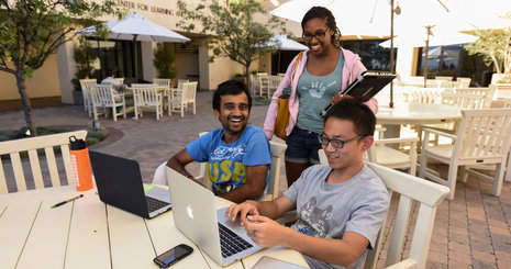 Students on computer - Pepperdine University