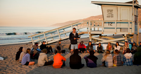 Students on the beach - Pepperdine University
