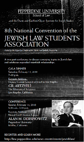 8th National Jewish Law Students Association Conference ad - Pepperdine University