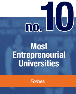 Number 10 Most Entrepreneurial Universities - Forbes - Pepperdine University