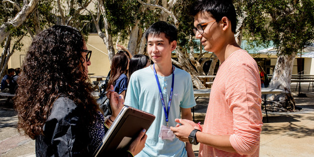 Students on campus - Pepperdine University