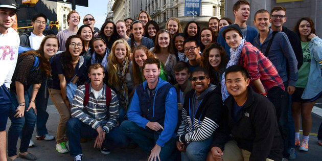 Student participants of the Pepperdine International Club (PIC) - Pepperdine University