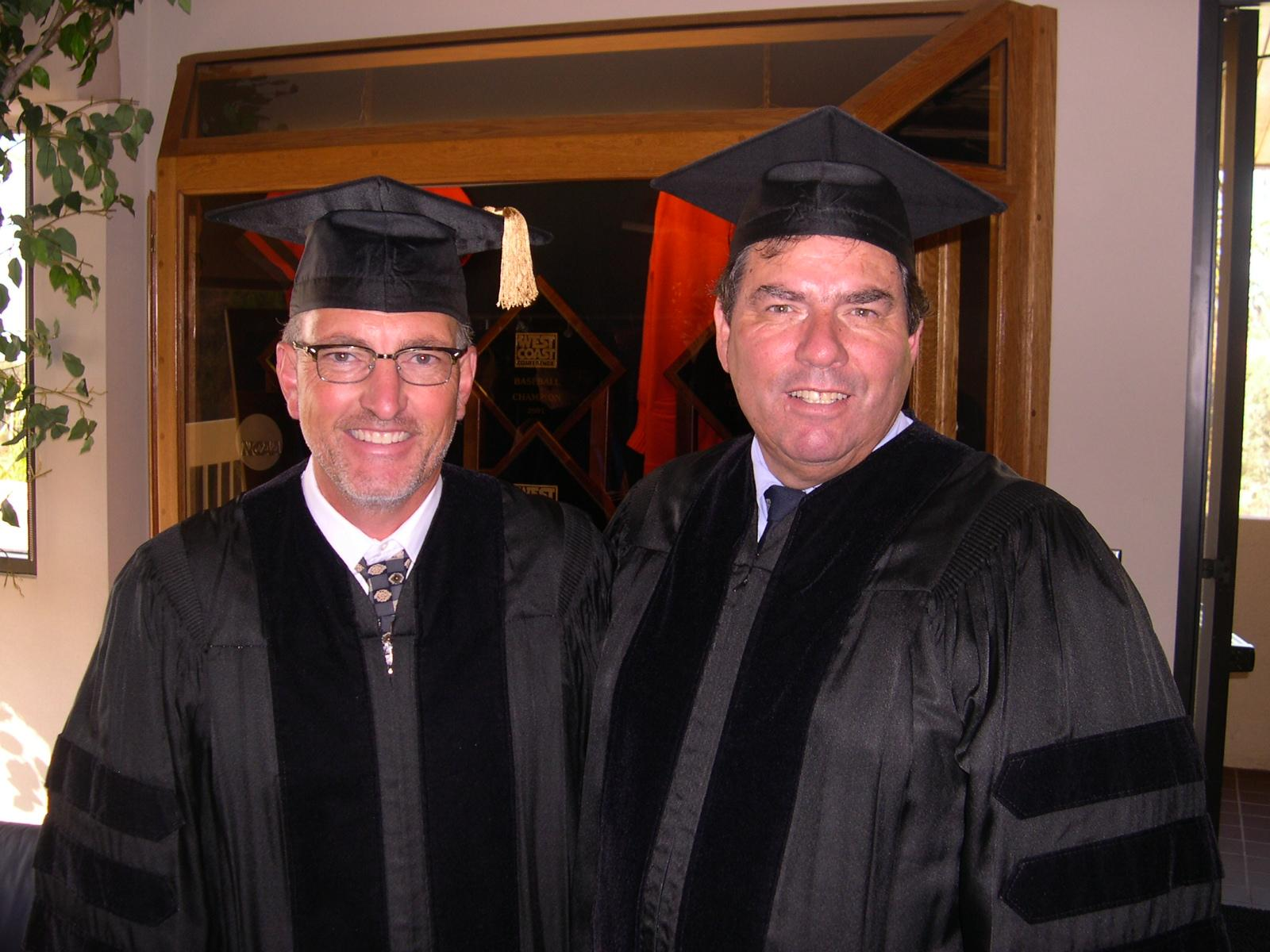 Crest Board member Clark Cowan and Pepperdine Vice Chancellor Lou Drobnick