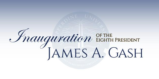Inauguration of President James A. Gash