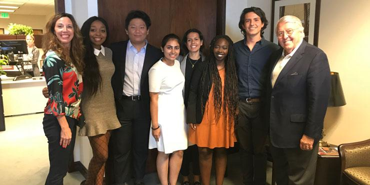 International Student Ambassadors meet President Benton