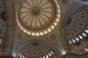 The ceiling of a mosque