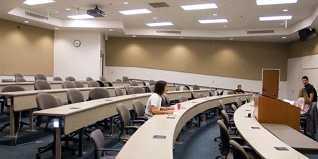 Room 100 (auditorium) Center for Communication and Business