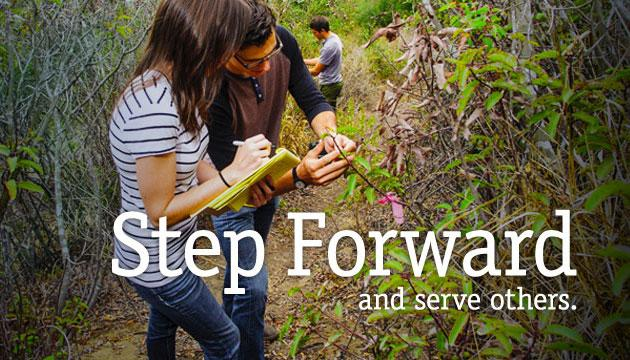 Step Forward and serve others.