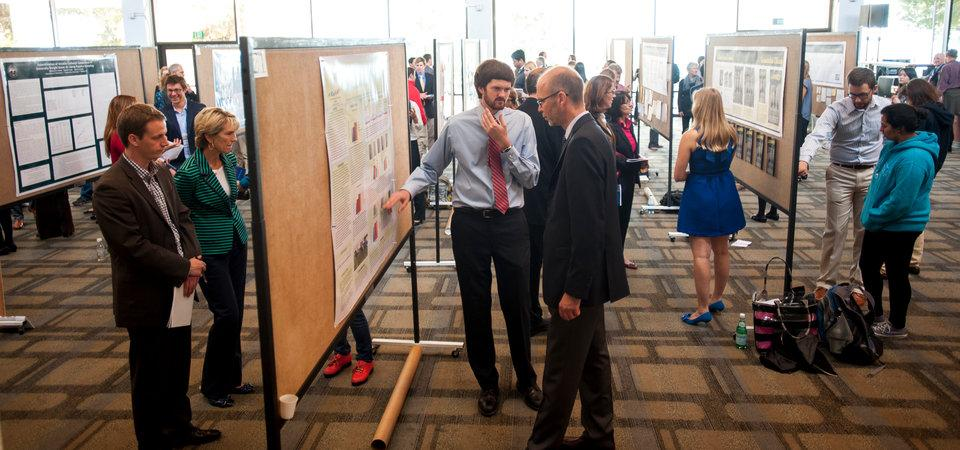 Vice Provost for Research and Strategic Initiatives observes student research