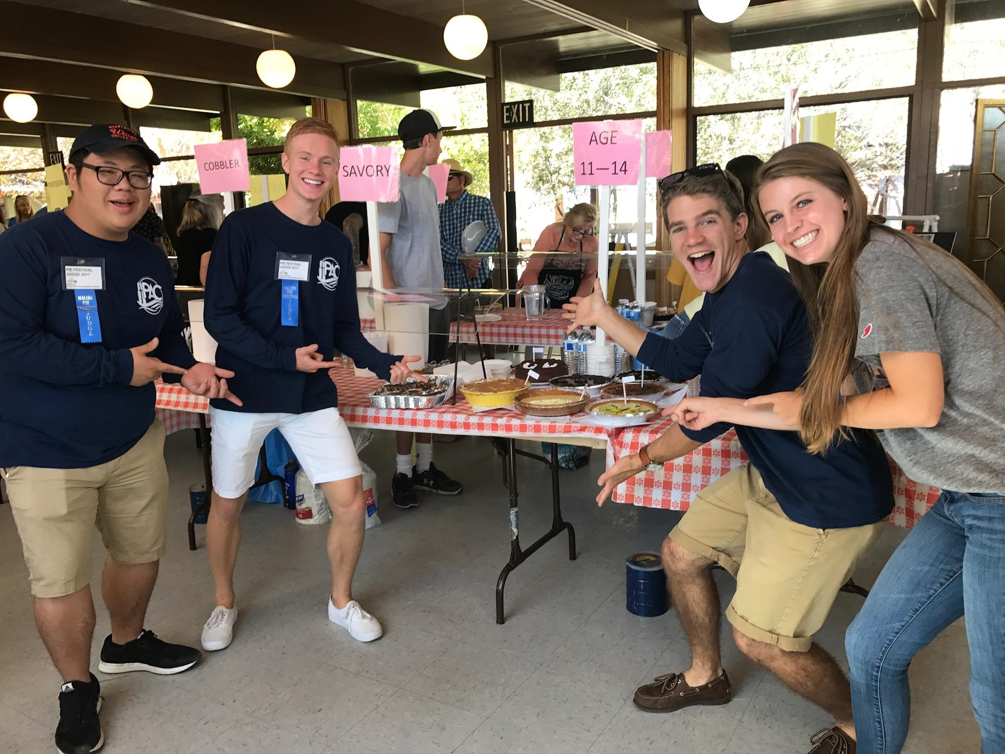 2017-2018 PAC members at the Malibu Pie Contest