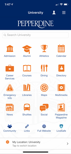 Pepperdine Mobile App Launchpad