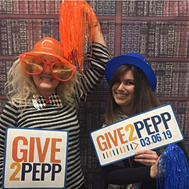 #Give2Pepp students with signs