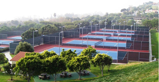 Tennis courts below Alumni Park