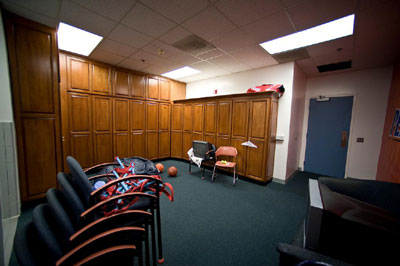 Tennis team locker room