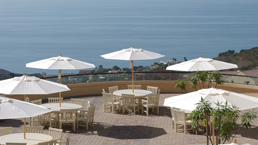 Drescher Gulls Way patio, overlooking ocean from upper courtyard