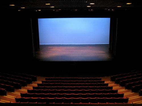 Smothers Theatre w/blue 'cyc' (no audience)