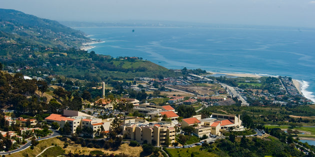 A scenic view of the Malibu campus - Pepperdine University