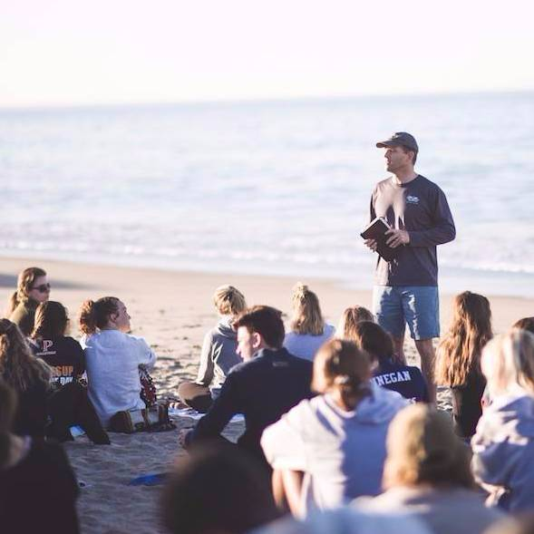 Lecture at the beach - Pepperdine University