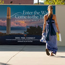 Woman walking on campus - Pepperdine University
