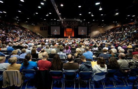 Firestone Fieldhouse church service - Pepperdine University