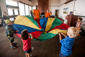 Students participate in special programs and play with kids - Pepperdine University