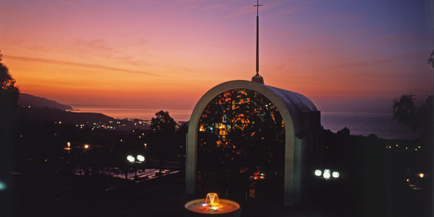 Stauffer Chapel at sunset - Pepperdine University